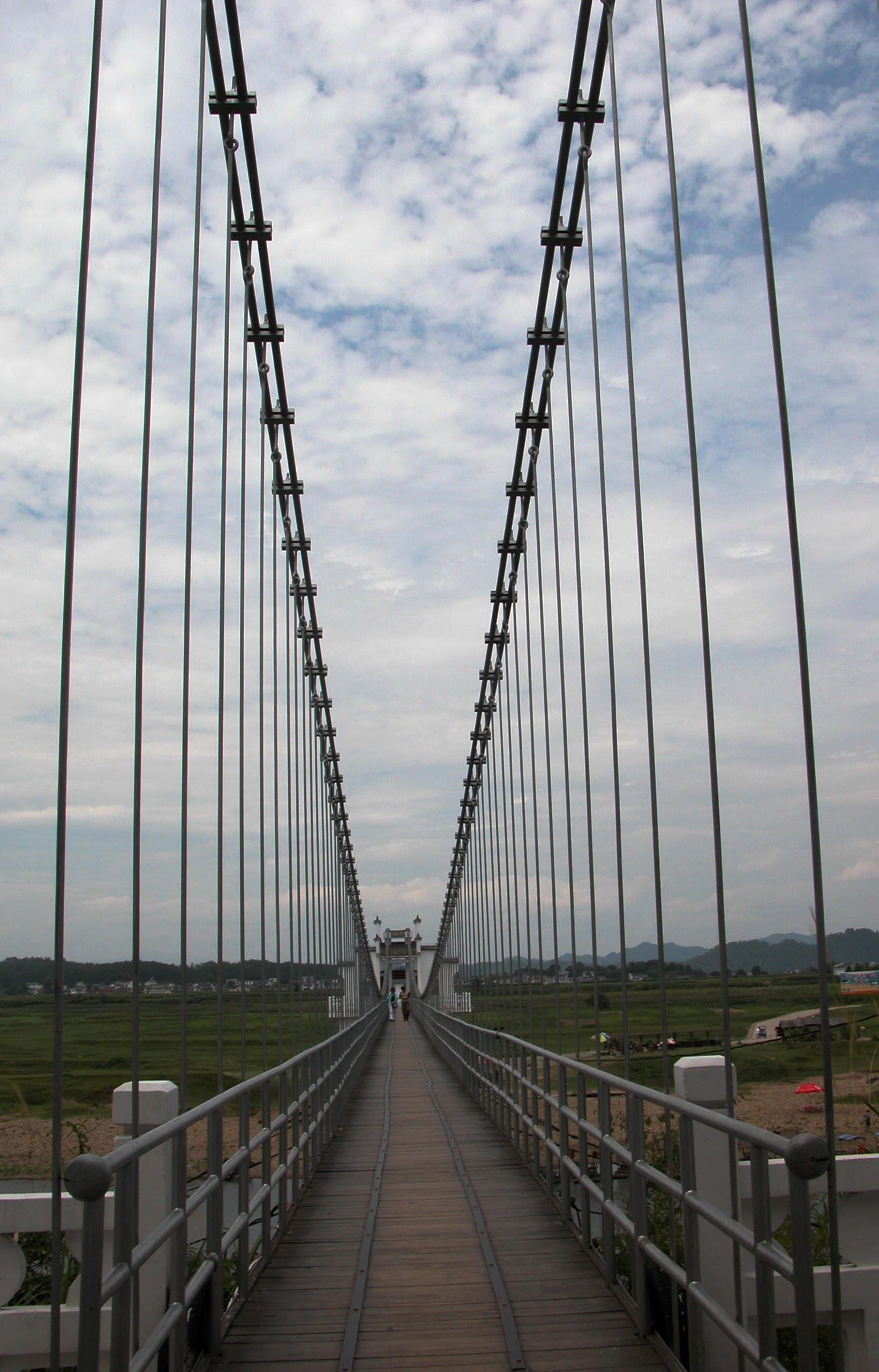 简笔画小河桥