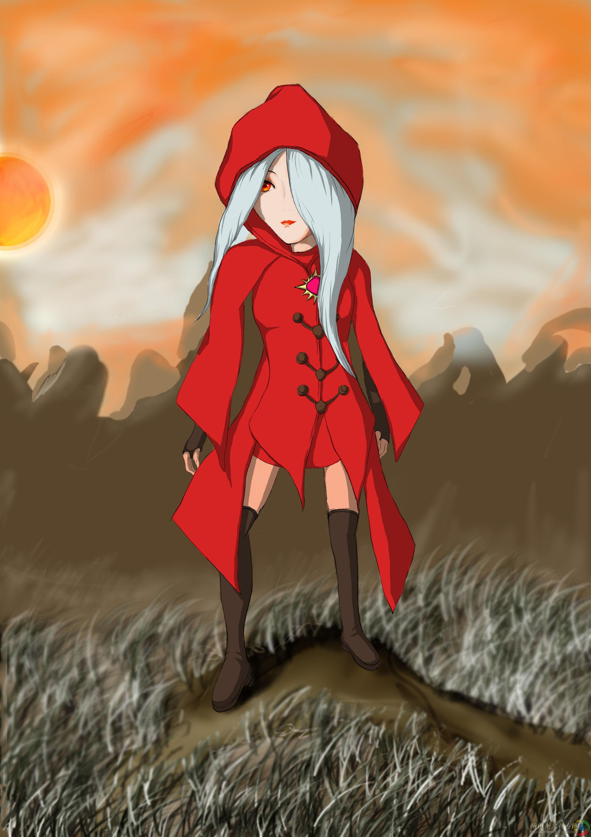 腾讯独家手绘:惊艳冷酷的美女阿尔杰塔_龙之谷_龙穴