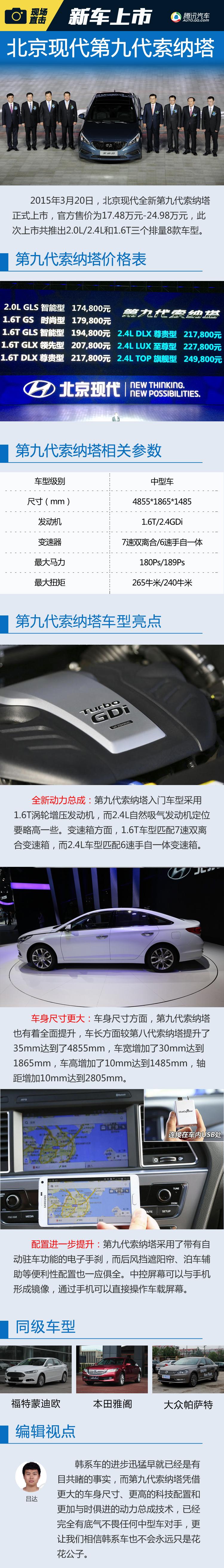 第九代索纳塔正式上市 售17.48-24.98万元
