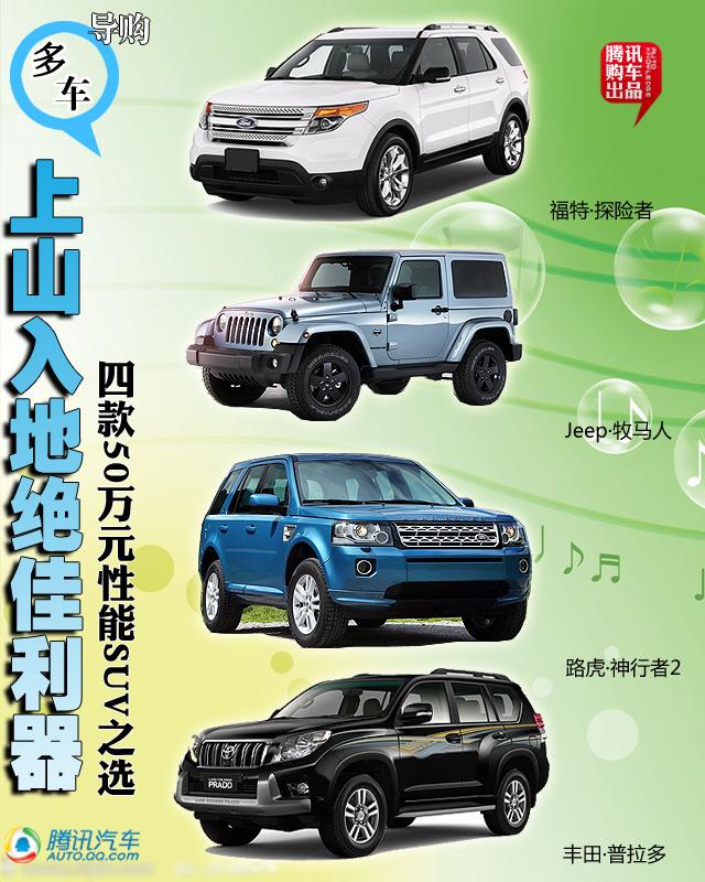 四款50万元性能SUV之选 全能豪华新选择