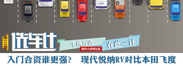 [选车计]年轻人首选 现代悦纳RV对比本田飞度