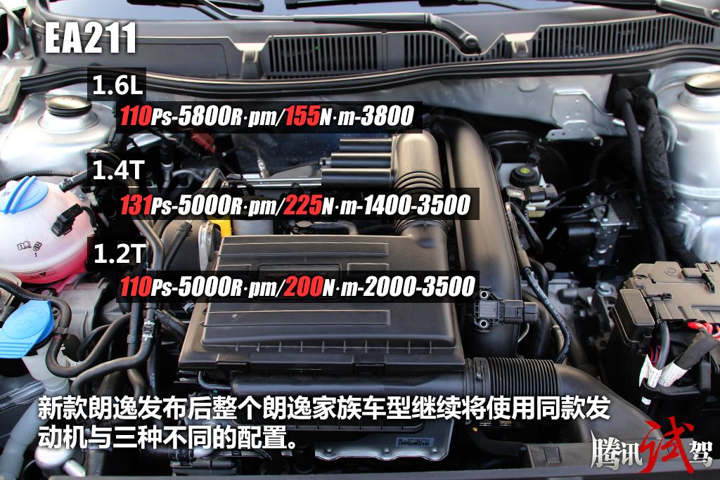 朗逸,朗行车型依然使用ea211发动机