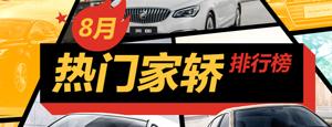 8月热门家轿排行榜-帮你购车