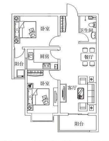 苏堤杭城 户型图
