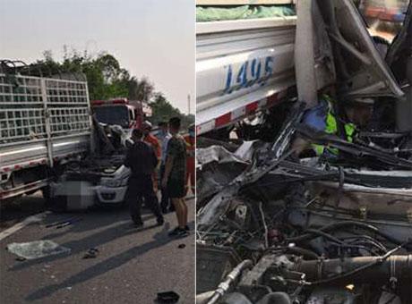 自隆高速巡查车与小货车相撞 致2死1伤