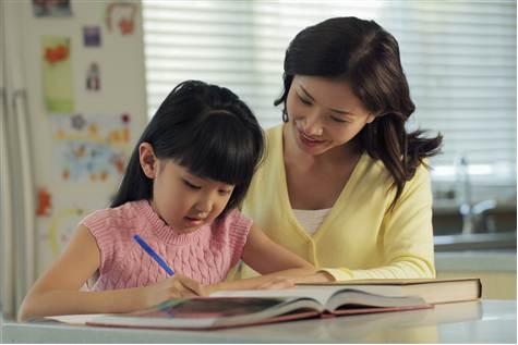 家长如何陪孩子写作业图片
