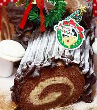 烘焙课堂11-圣诞树桩蛋糕