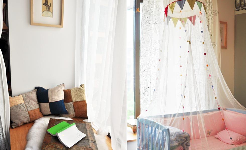 租房自制窗帘步骤图片