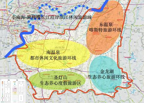巴南东温泉景区地图