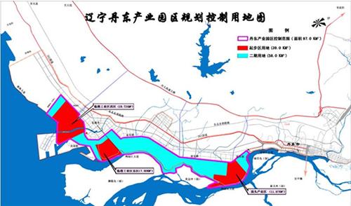 图示:丹东临港产业园区规划图高清图片