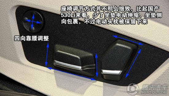 2012款 宝马5系530i领先型 旅行版 重点图解