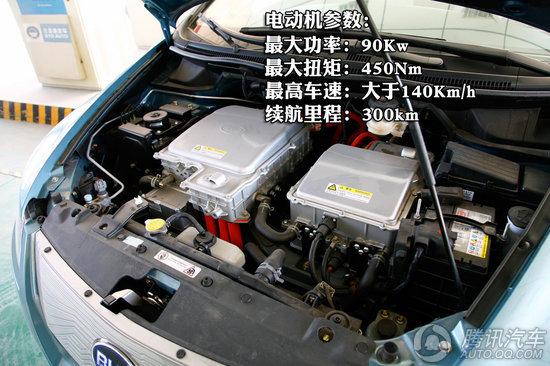 比亚迪E6先行者实拍 比亚迪E6装配了功率90Kw的电动机,最大扭矩达到450Nm,可续航里程大约在300km左右,而最高车速可达到140km/h以上。 版权声明:本文系腾讯汽车独家稿件,版权为腾讯汽车所有。欢迎转载,请务必注明出处(腾讯汽车)及作者,否则必将追究法律责任。