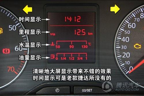 捷达车仪表盘图解