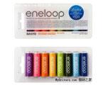三洋推彩色Eneloop电池套装
