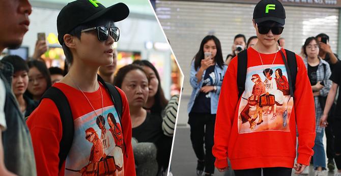 李宇春腿伤痊愈后现身机场 素颜亮相获粉丝火热送机