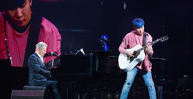 林俊杰北京演唱会引众星齐聚 520浪漫收官