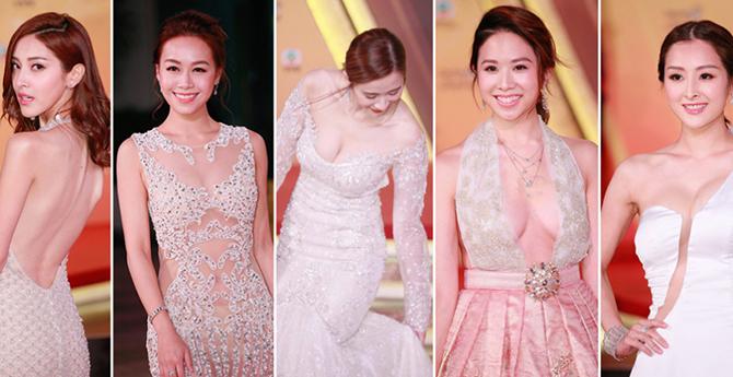 TVB台庆满屏美好身材,女星一个动作完美抢镜