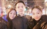 张韶涵姐弟3人同框