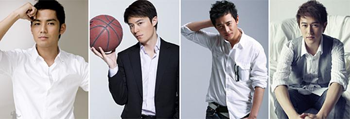 左起:钟汉良、霍建华、罗晋、陈键锋