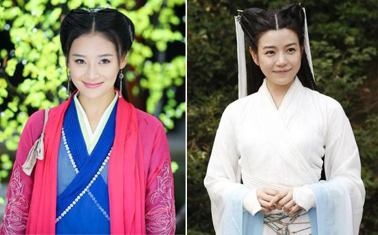 袁姗姗(左)、陈妍希(右)是目前被黑届的热门人物