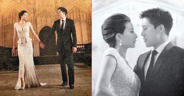 郭晶晶和霍启刚两人远赴英伦名店挑选婚纱首饰。