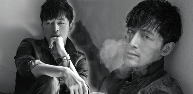 高清:胡歌再登杂志封面 黑白照片老干部style