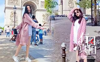 最美游客迪丽热巴夏日出游竟穿毛衣?