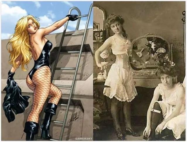 美国漫画Black Canary造型和当时女人的穿戴