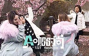 李小璐甜馨赏樱花