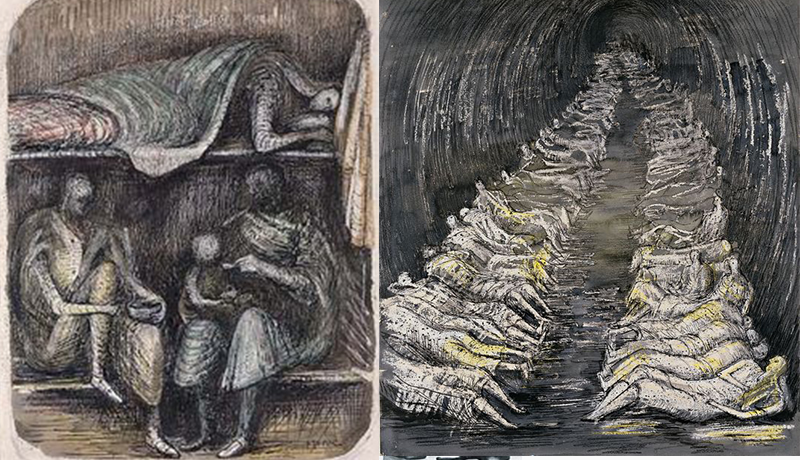 摩尔在二战时期的素描