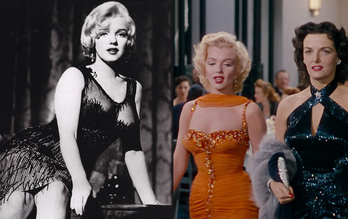 左:《热情似火》剧照 右:《绅士喜爱金发女郎》剧照