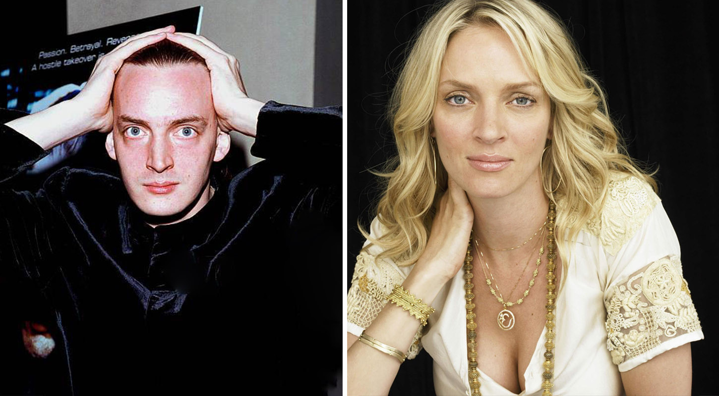 左:Dechen Thurman 右:Uma Thurman
