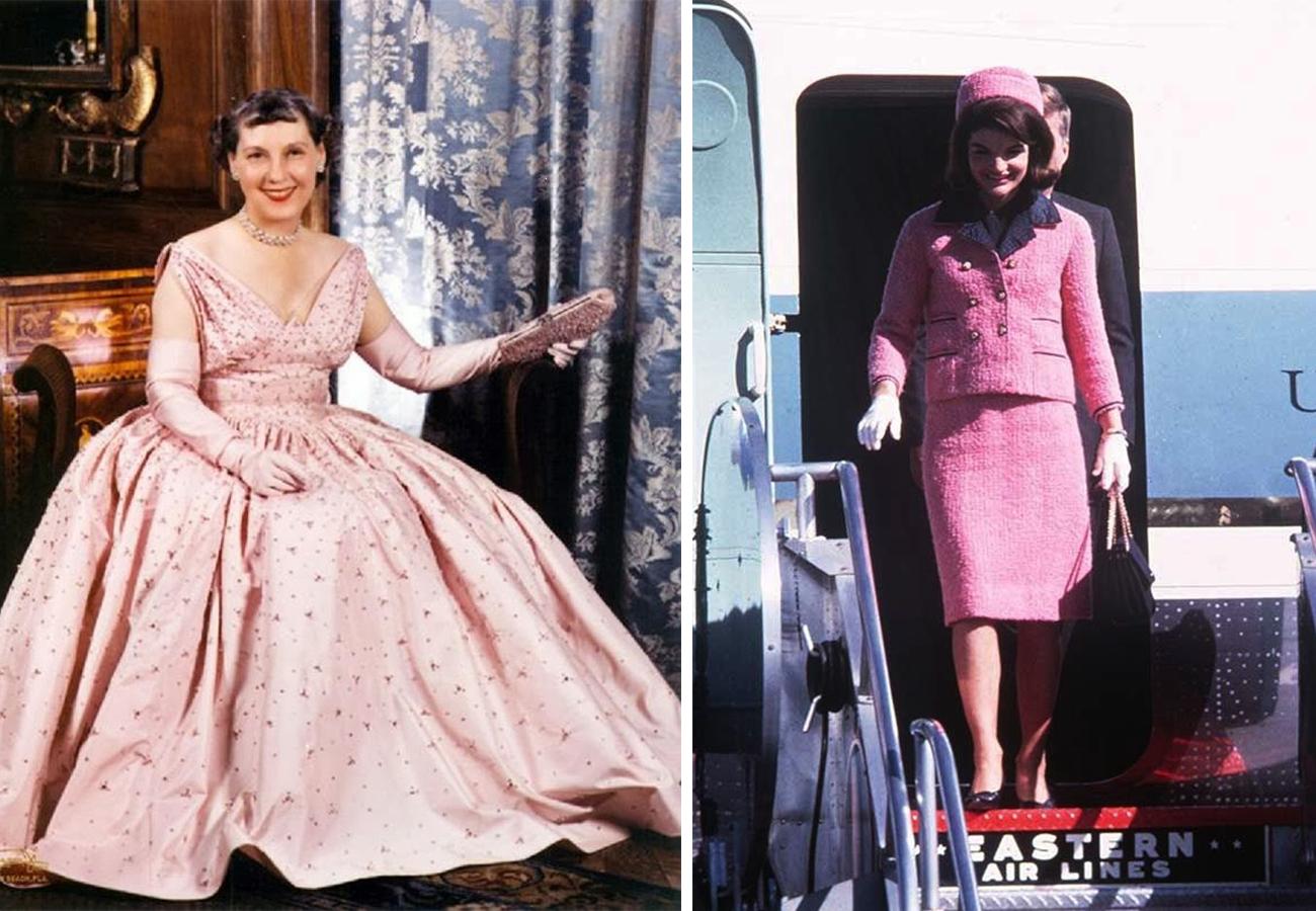 左:玛米·艾森豪威尔 右:杰奎琳·肯尼迪