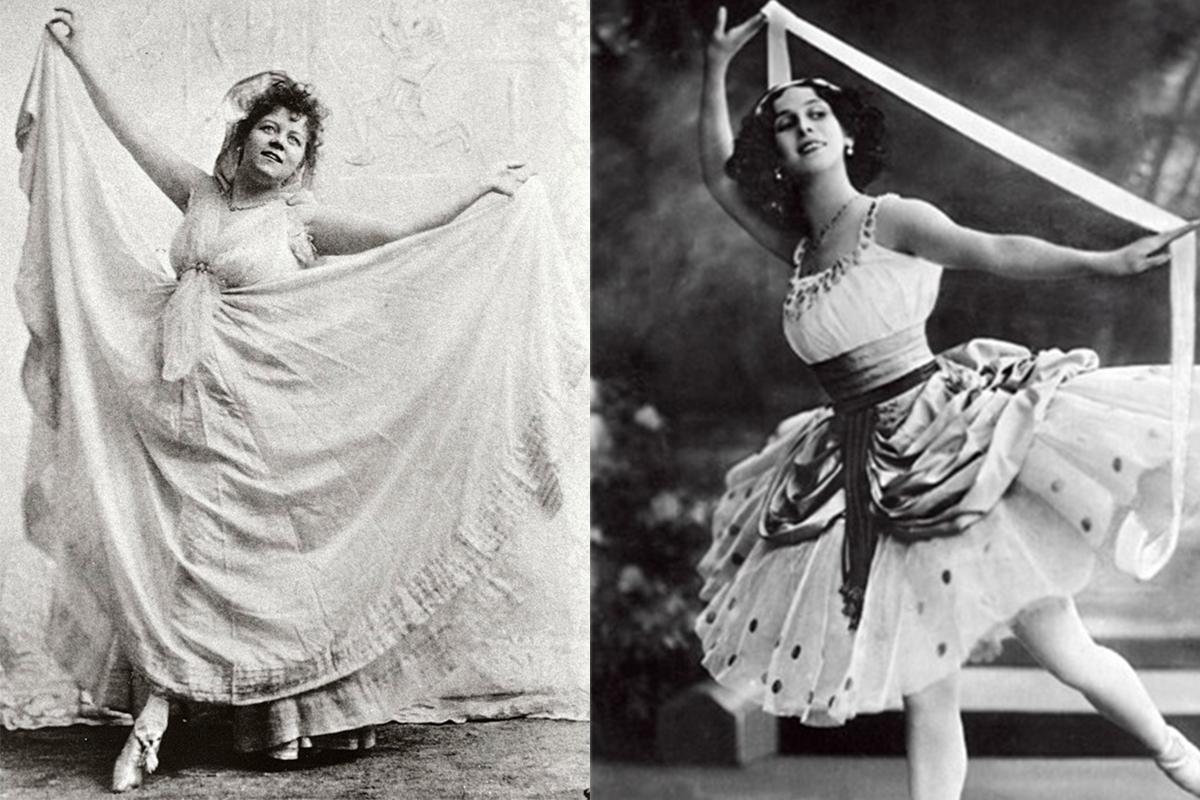 左:Loie Fuller洛伊富勒  右:Isadora Duncan邓肯