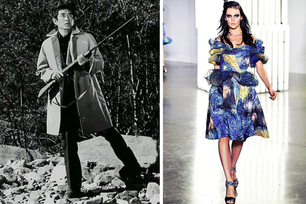 左:高仓健的风衣  右:Rodarte时装