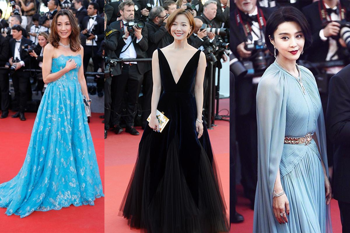 左:杨紫琼 中:王珞丹 右:范冰冰