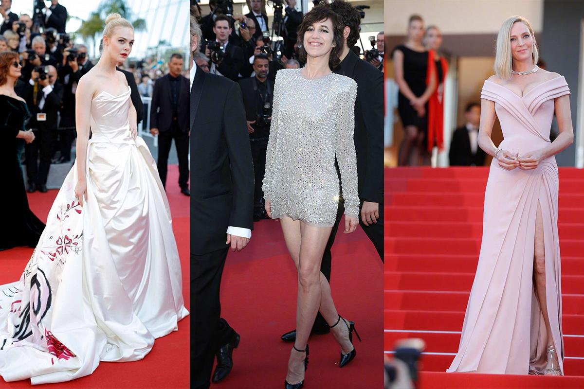 左:Elle Fanning 中:Charlotte Gainsbourg右:Uma Thurman