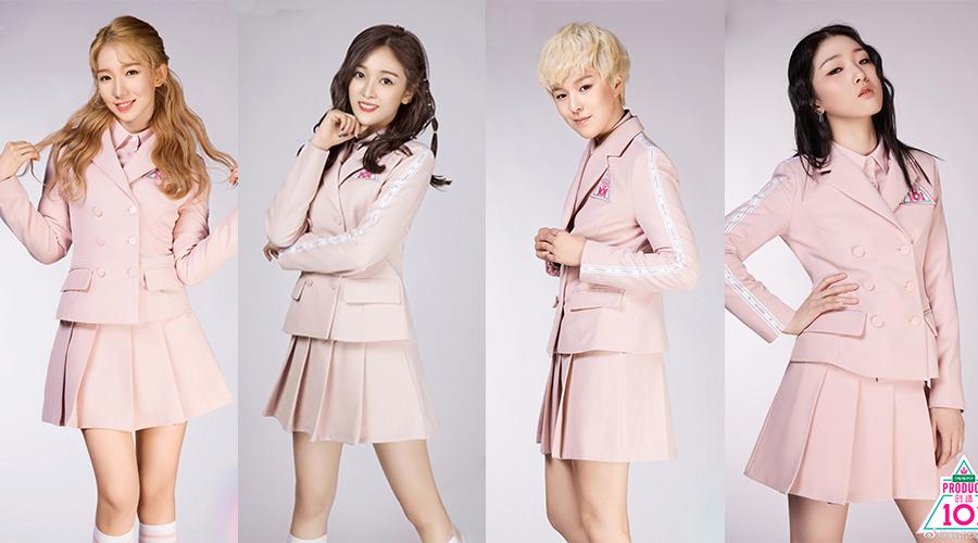 从左到右:孟美岐、吴宣仪、sunnee、yamy