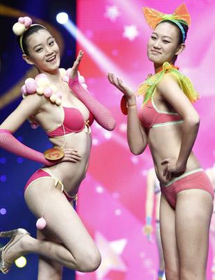 参赛选手少女系列内衣展示