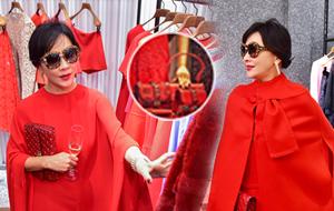 优雅女神刘嘉玲:幸运源于这抹红色