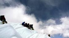 到达山顶休息