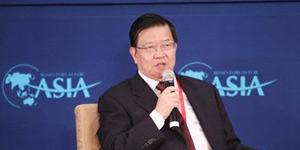 博鳌论坛秘书长龙永图参加高端访问