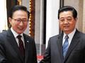 胡锦涛会见韩国总统李明博