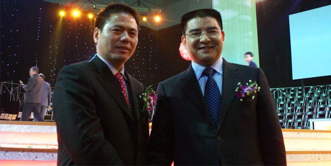 蒋锡培与江苏黄埔再生资源利用有限公司董事长陈光标合影