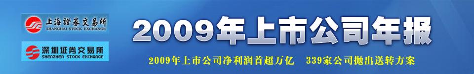 2009年上市公司年报