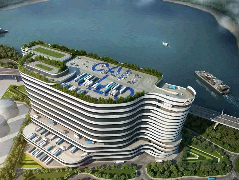 最终设计方案以政府审批为准 菜鸟投建的超级ehub项目位于香港国际