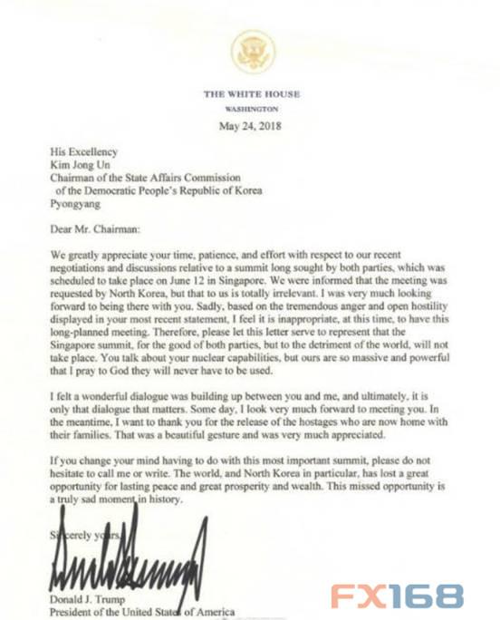 美国白宫5月24日发表声明说,美国总统特朗普取消与朝鲜最高领导人