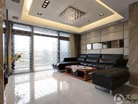黑白简约132平三居室简洁大方