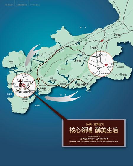 大连市公交车线路地图