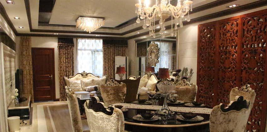 欧式风格与中国风格的融合,餐客一体,无处不在的自由空间.